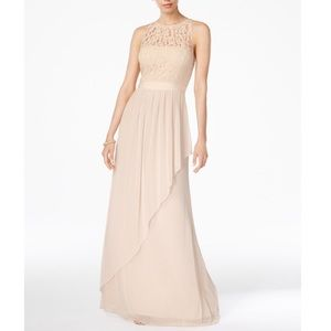 Adrianna Papell Halter Tulle/Lace Gown, 8, NWT